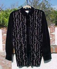 New Authentic Disney S Mickey Mouse Black Velvet Top Shirt Cardigan Embroidered