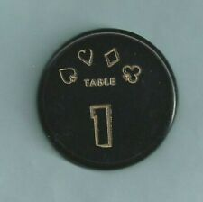 New listing Table Marker #1 Roulette Gaming Cards Poker Plastic