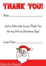 Christmas Thank You Notes x 20 A5 with envelopes - Santa Claus