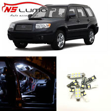 8 x White Car LED Light Bulbs Interior Package Kit For 2003-2008 Subaru Forester