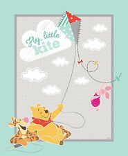 Disney Winnie the Pooh Fly Little Kite 100% Cotton fabric by the Panel