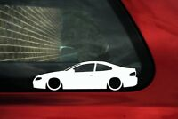 2X Lowered car silhouette stickers - for Holden Monaro CV8