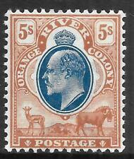 ORANGE RIVER COLONY 1904 5s blue & brown, FM hinged. SG 147. Cat.£160.