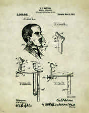 Dentist Patent Poster Art Print Vintage Dental Instruments Tools Chairs PAT182