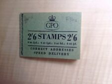 Great Britain Stamp Booklet 2/6 September 1955 F34a Complete