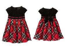 Gymboree NWT Party Plaid Velveteen Red Black Bow Holiday Christmas Dress 4T