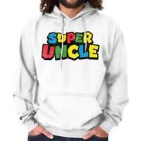 Super Uncle Funny Gaming Nerd Retro Video Gamer Geek Gift Hoodie Sweatshirt