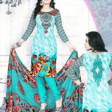 Linen Blend Salwar Kameez World & Traditional Clothing