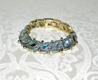NIB $180 HEIDI DAUS Worth Waiting For Dazzling Crystal Tennis Bracelet Blue