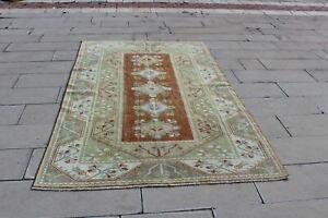 Vintage Rug, Vintage Carpet Muted Oriental Rug, Pastel Turkish Vintage Alfombra