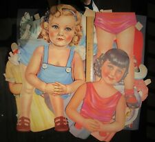 "Vintage- 2 Very Large -35""- Paper Dolls-  w/clothing & acces- Pre-cut"