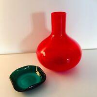 🔴 Grande vaso vetro di Murano + portacenere Auras veart anni 70