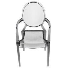 1/6 Scale Dollhouse Furniture Dark Smoke Transparent Chair 1 Piece Grey