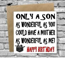 WONDERFUL SON HAPPY BIRTHDAY GREETINGS CARD LOVE FUNNY RUDE HUMOUR COMEDY