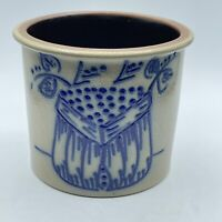 BBP Beaumont Brothers Pottery Crock Salt Glaze Cobalt Blue Jar 1994