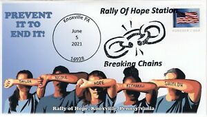 21-135, 2021,  Rally of Hope,Event Cover, Pictorial Postmark, Knoxville PA, Soci