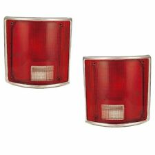 Pair of Tail Light Lenses w/ Trim - Left & Right - Fits OE# 5968329, 5968330
