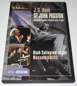 Bach: St. John Passion (DVD, 2006) Bach Collegium Japan, Masaaki Suzuki
