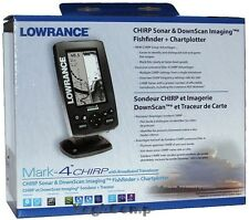 Lowrance Mark-4 CHIRP Sonar GPS Fishfinder & Chartplotter with transducer NEW