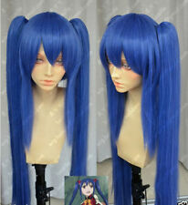 Blue Colour FAIRY TAIL Wendy Marvell Double clip Ponytail Cosplay Costume Wig