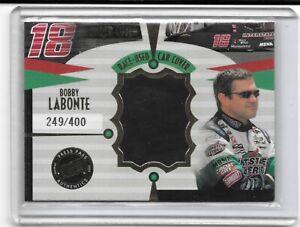 2002 PRESS PASS UNDER COVER BOBBY LABONTE NASCAR RACING MATERIALS NICE CARD