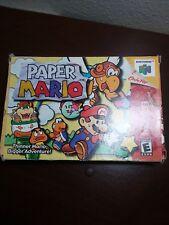 Paper Mario Nintendo 64 N64 Original Box Only!