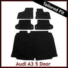 Audi A3 Mk2 Sportback 2003-2013 Tailored Carpet Car Floor & Boot Mats BLACK