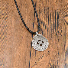 Vintage Celtic Knot Love Pendant Necklace Viking Norse Rune Wiccan Retro Jewelry