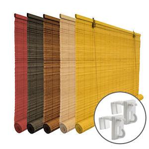 Store en bambou avec support de serrage pour l'intérieur sans perçage VICTORIA M