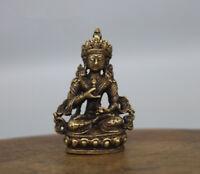 China's archaize brass Buddha Small pendant #9