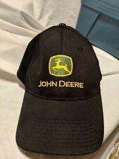 John Deere Black Baseball Cap Flrxfit Twill Hat