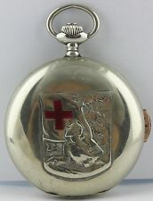 Repeater ANGELUS quarter hour blind antigue pocket watch Grand Prix 1914 box