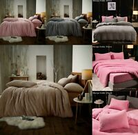 Teddy Bear Fleece Sherpa Thermal Warm Bedding Fitted Sheet OR Duvet Cover Set