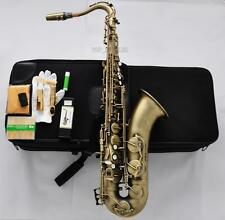 PRO. Antique Bronze Tenor Saxophone High F# Bb Sax +Jazz Metal Mouth 10Pc Reeds