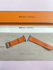 Hermes Apple Watch 44mm feu epsom leather single tour Band RARE!