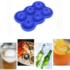 6Hole Whiskey Mold Ice Cube Ball Maker Sphere Mould Party Tray Bar Silicon AU