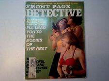 Vintage Front Page Detective Magazine-Oct.. 1974-Girls in Trunk-Murder-Crime