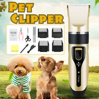 Professional Pet Cat Dog Clipper Grooming Electric Rechargeable Hair Trimmer Kit