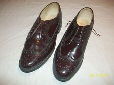 Vintage Aspen Wingtip Men's Brown Leather Dress Shoes Size 9 1/2 Made In Poland