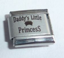 DADDY'S LITTLE PRINCESS Italian Charm 9mm Classic Size - I Love my Daughter N124