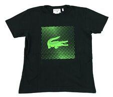 Lacoste Boys Short Sleeve Andy Roddick Black Green Shirt Size 4 TJ4384 BNWT