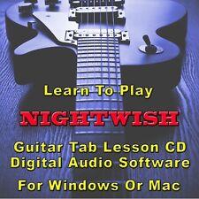 NIGHTWISH Guitar Tab Lesson CD Software - 95 Songs