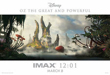 OZ THE GREAT & POWERFUL 2013 Midnight IMAX Exclusive Mini Movie Poster C Bale