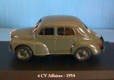 RENAULT 4CV AFFAIRES 1954 ELIGOR 1/43 VERTE GREEN VERDE HACHETTE BLISTER