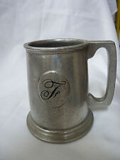 5 Inch Pewter Mug Personalized with Cursive F