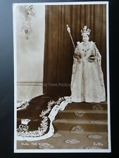 Royal Coronation H.M. THE QUEEN 1953 RP Valentine C50