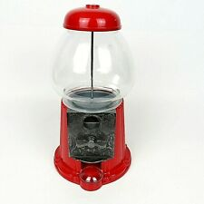 Vintage 1985 Carousel Gumball Machine No-17 Junior Glass Globe Red Gum Candy
