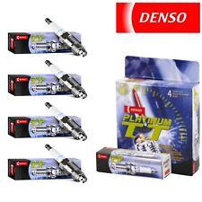 4 - Denso Platinum TT Spark Plugs 2003-2011 Honda Element 2.4L L4 Kit Set