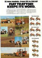 Fiat Fiatagri Trattori Range 12 New Models 115-350 Hp Brochure Poster Advert A3