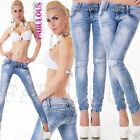 New Women's Skinny Slim Fit Stretch Jeans Denim Size 6 8 10 12 14 XS S M L XL